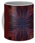 Kaleidoscope Image Created From Light Trails Coffee Mug