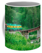 Scenic Train From Skagway To White Pass Alaska Coffee Mug