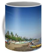 Traditional Fishing Boats On Dili Beach In East Timor Leste Coffee Mug
