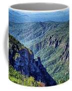 Hawksbill Mountain At Linville Gorge With Table Rock Mountain La Coffee Mug