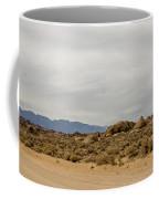 Rocks, Mountains And Sky At Alabama Hills, The Mobius Arch Loop  Coffee Mug