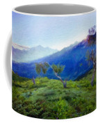 Nature Landscape Oil Painting On Canvas Coffee Mug