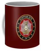 14th Degree - Perfect Elu Jewel On Red Leather Coffee Mug