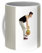 18 Year Old Teenage Boy Exercising With Weights Coffee Mug