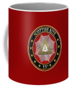 15th Degree - Knight Of The East Jewel On Red Leather Coffee Mug