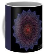 Kaleidoscope Image Created From Light Trails Coffee Mug