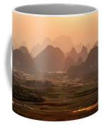 Karst Mountains Scenery In Sunset Coffee Mug
