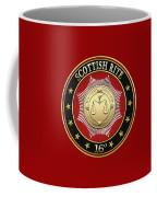 16th Degree - Prince Of Jerusalem Jewel On Red Leather Coffee Mug