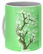 White Tree In Blossom, Painting Coffee Mug