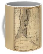 1765 Florida Coast Map Coffee Mug