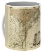 1783 United States Of America Map Coffee Mug