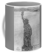 18,000 Officers And Men Form The Statue Of Liberty At Camp Dodge In Iowa. 1917 Coffee Mug