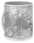 1800s London Map Black And White London England Coffee Mug