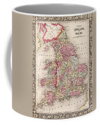 1800s Wales County Map Wales England Color Coffee Mug