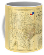 1849 Texas Map Coffee Mug