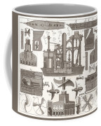 1850 Construction Of Steam Ship Coffee Mug