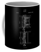 1854 Corn Sheller Patent Drawing Coffee Mug