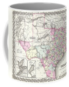 1855 Texas Map Coffee Mug