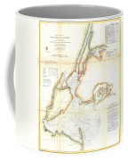 1857 Coast Survey Map Of New York City And Harbor Coffee Mug