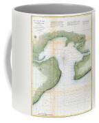 1857  Coast Survey Map Of St. Louis Bay And Shieldsboro Harbor, Mississippi  Coffee Mug