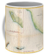 1857  Coast Survey Map Of The Eastern Entrance To Santa Barbara Channel Coffee Mug