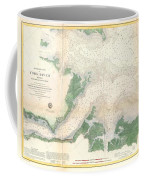 1857 U.s. Coast Survey Map Or Chart Of The Entrance To The York River, Virginia Coffee Mug