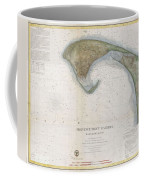 1857 U.s.c.s. Map Of Provincetown Harbor, Cape Cod, Massachusetts Coffee Mug