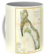 1857 U.s.c.s. Map Of San Diego Bay, California Coffee Mug