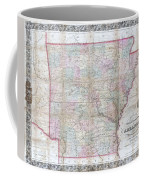 1859 Colton Pocket Map Of Arkansas  Coffee Mug