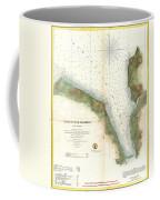 1859 U.s. Coast Survey Chart Or Map Of Hempstead Harbor, Long Island, New York  Coffee Mug