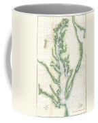 1859 U.s. Coast Survey Chart Or Map Of The Chesapeake Bay Coffee Mug