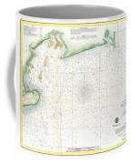 1859 U.s. Coast Survey Map Of Bull's Bay South Carolina Coffee Mug