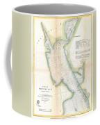 1865 Us Coast Survey Map Or Chart Of Providence Rhode Island Coffee Mug