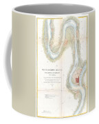 1865 Uscs Map Of The Mississippi River From Cairo Illinois To St Marys Missouri  Coffee Mug