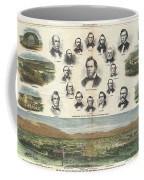 1866 Harpers Weekly View Of Salt Lake City Utah W Brigham Young Mormons Coffee Mug