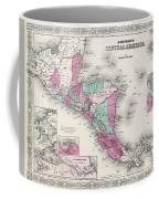 1866 Johnson Map Of Central America Coffee Mug