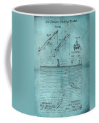 1868 Fishing Tackle Patent Blue Coffee Mug