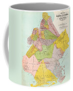 1869 King County Map Coffee Mug