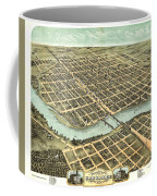 1869 Map Of Kankakee Coffee Mug
