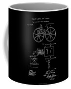1871 Hand Carriage Patent Drawing Coffee Mug