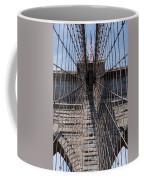 1875 Brooklyn Bridge Tower Color  Coffee Mug