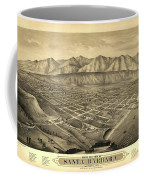 1877 Santa Barbara California Map Coffee Mug