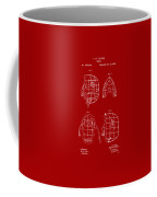 1878 Baseball Catchers Mask Patent - Red Coffee Mug
