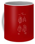 1878 Baseball Catchers Mask Patent - Red Coffee Mug by Nikki Marie Smith