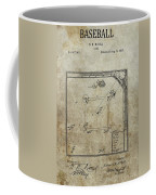 1887 Baseball Game Patent Coffee Mug