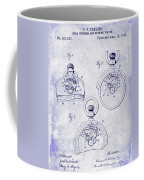 1893 Pocket Watch Patent Blueprint Coffee Mug