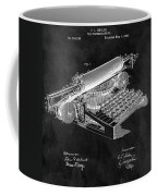1896 Typewriter Patent Illustration Coffee Mug