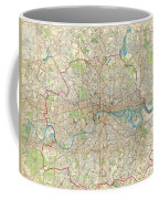 1899 Bartholomew Fire Brigade Map Of London England  Coffee Mug