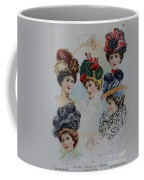 19 Century Ladies Hats The Delineator Early Autumn Hats Coffee Mug