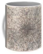 1900 Gall And Inglis' Map Of London And Environs Coffee Mug